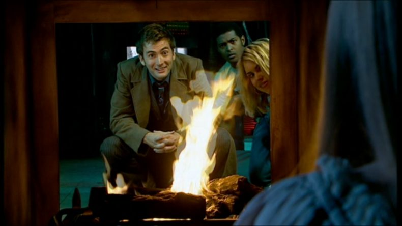 It's the Doctor! He's in a fireplace!